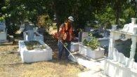 Büyükşehir'den Mezarlıklara Bayram Bakımı