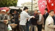 MHP Çanakkale şehitleri için helva dağıttı