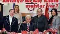 Antalya'da kaç kadın muhtar var?