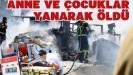 Kağıt yüklü araçta yangın: 3 ölü 1 yaralı