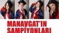 Manavgat'tan beş şampiyon