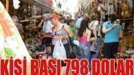 Turistlerin Kişi Başı Harcaması 798 Dolar