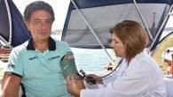 Alanya Belediyesi'nden denizde sağlık hizmeti