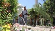 Cami bahçeleri pırıl pırıl