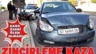 Otomobil  polis otosuna, polis otosuda motosiklete çarpat›