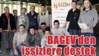 BAGEV'den işsizlere destek