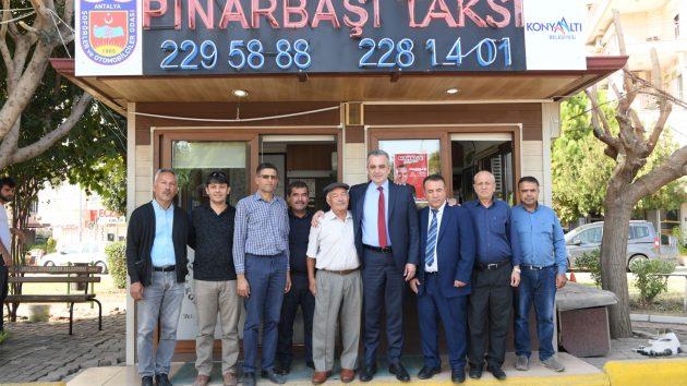 Esen'den taksi esnafına sürpriz ziyaret