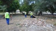 Beldibi Atatürk Parkında Temizlik