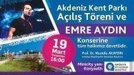 Kent Parkı'na konserli açılış