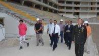 Vali Türker Stadyum inşaatını gezdi